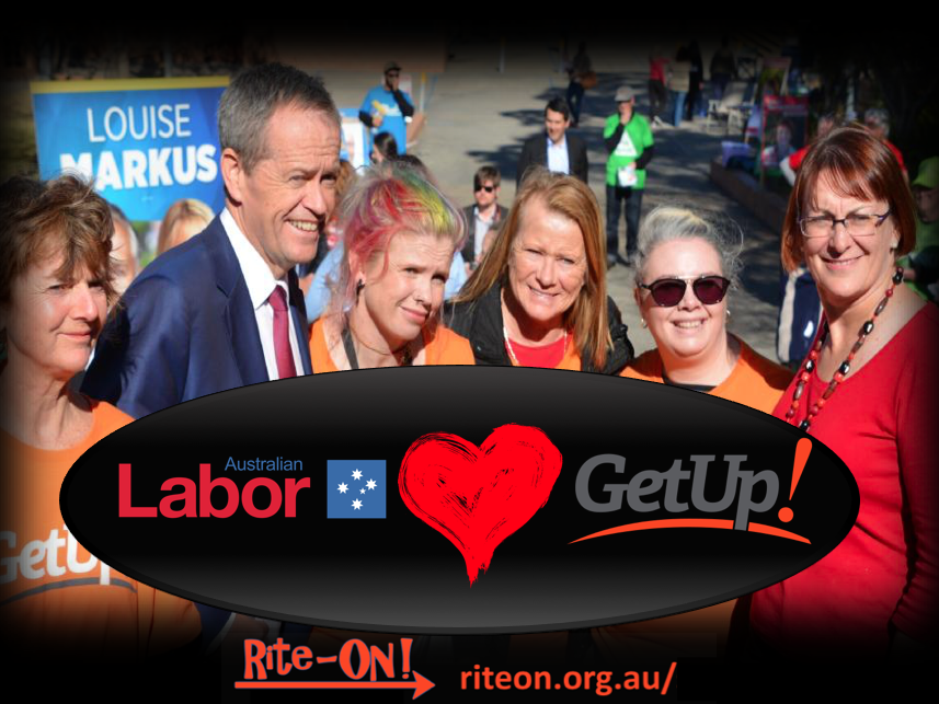 Rite-ON! Labor loves GetUp