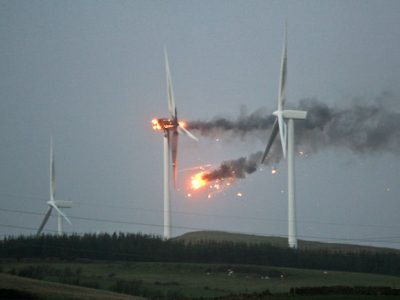 Rite-On Wind Turbine On Fire
