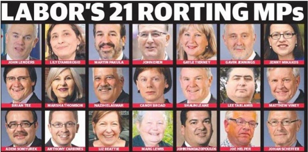 Labor's 21 rort MPs Rite-ON!