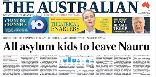 Rite-ON! All asylum kids to leave Nauru