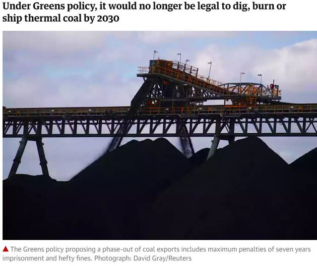 Greens to make coal illegal