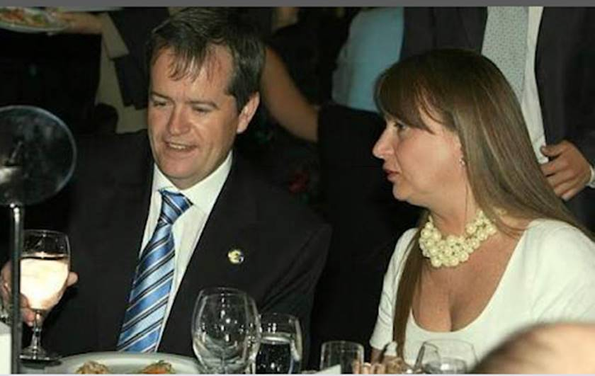 Bill Shorten and wif4 Debbie Beale