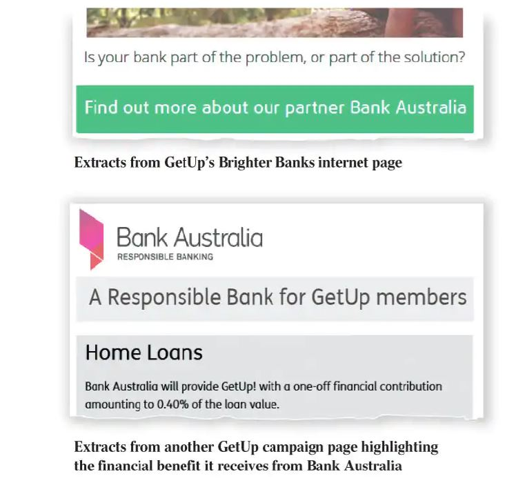 bank australias commission to getup