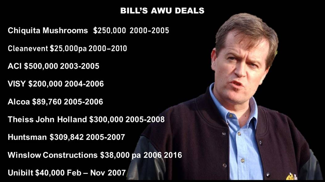 Bill Shorten AWU deals