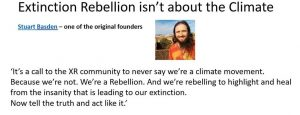 Extinction Rebellion is not about the Climate