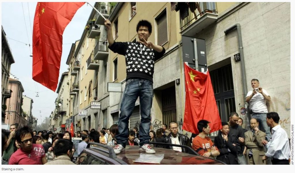 china staking a claim in italy