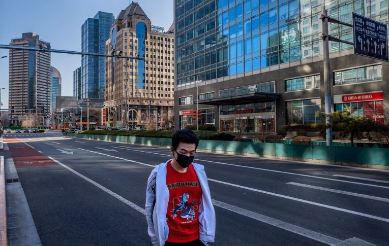 Deserted streets in mainland China