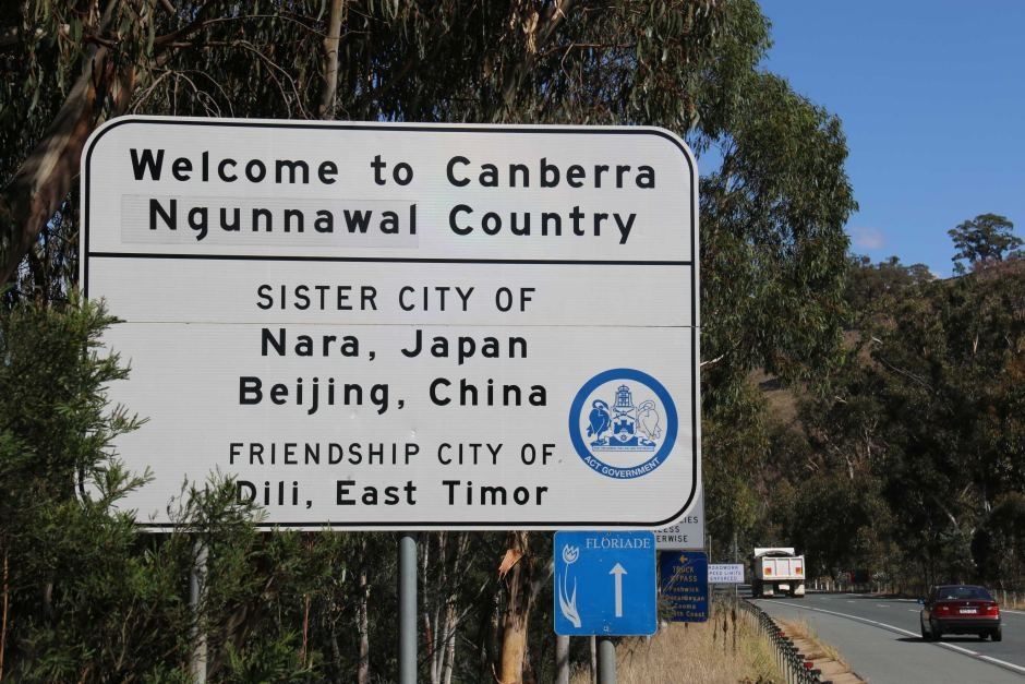 Canberra Sister City sign