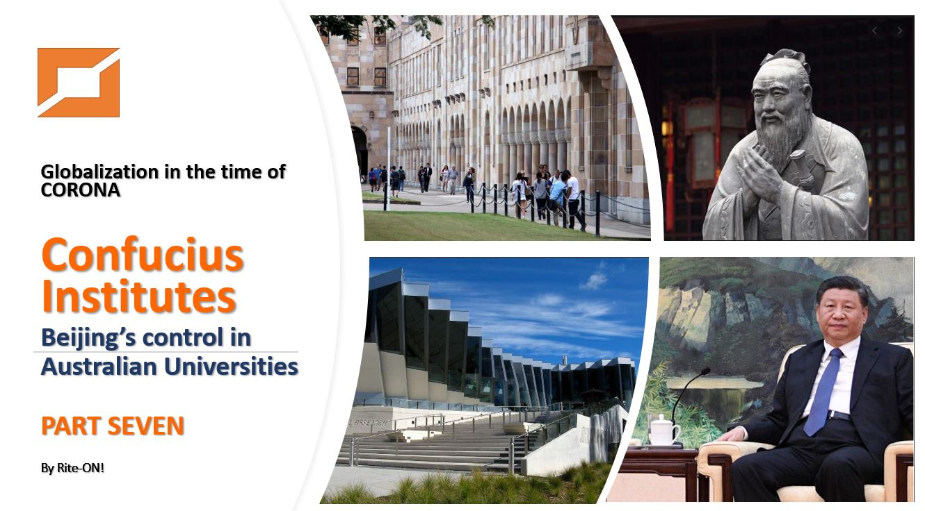 Confucius Institutes – Beijing's control in Australian Universities